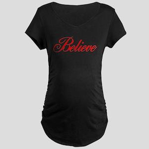 BELIEVE Maternity Dark T-Shirt