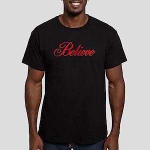 BELIEVE Men's Fitted T-Shirt (dark)