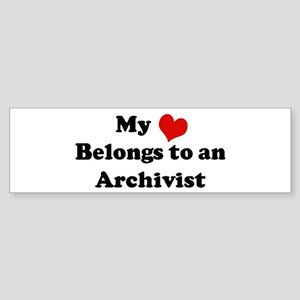Heart Belongs: Archivist Bumper Sticker