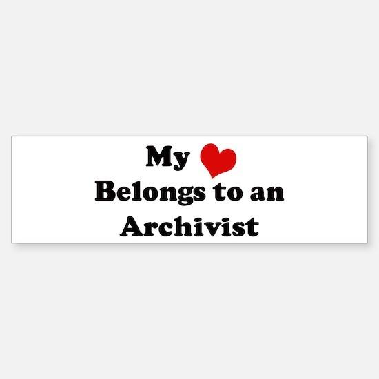 Heart Belongs: Archivist Bumper Bumper Bumper Sticker