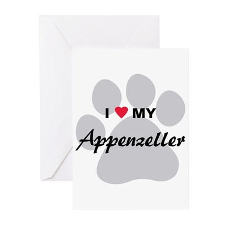 I Love My Appenzeller Greeting Cards (Pk of 10)