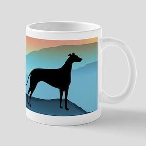Greyhound Blue Mountains Large Mugs