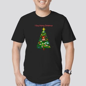 Holidays Funny Humorous Men's Fitted T-Shirt (dark