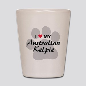 I Love My Australian Kelpie Shot Glass