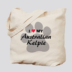 I Love My Australian Kelpie Tote Bag