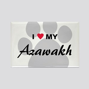 I Love My Azawakh Rectangle Magnet
