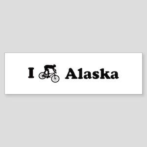 Mountain Bike Alaska Bumper Sticker