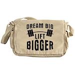 Dream big lift bigger Messenger Bag
