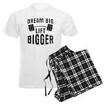 Dream big lift bigger Men's Light Pajamas