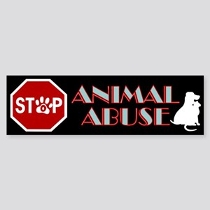 Stop Animal Abuse 1 Sticker (Bumper)