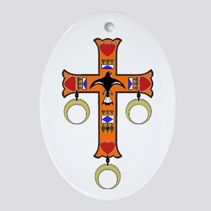 Indian Cross Ornament (Oval)