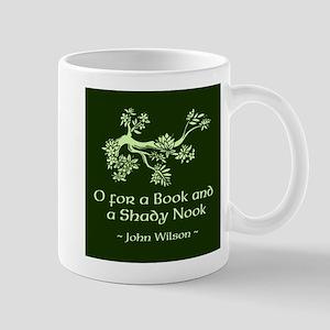 O for a Book Mug