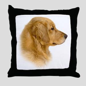 Golden Retriever Portrait Throw Pillow