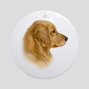 Golden Retriever Portrait Ornament (Round)