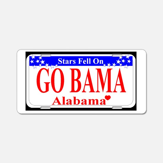 Go Bama! Aluminum License Plate