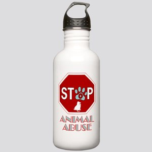 Stop Animal Abuse 1 Stainless Water Bottle 1.0L