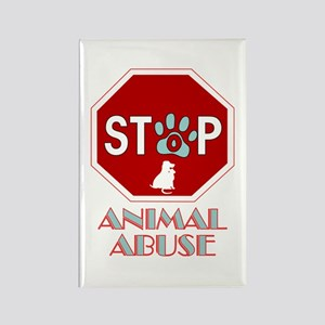 Stop Animal Abuse 1 Rectangle Magnet