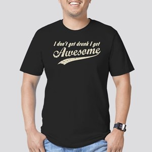 Vintage I Get Awesome Men's Fitted T-Shirt (dark)