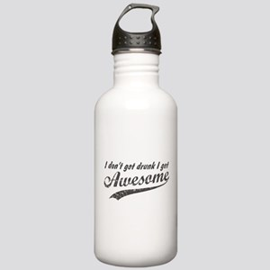 Vintage I Get Awesome Stainless Water Bottle 1.0L