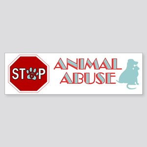 Stop Animal Abuse 2 Sticker (Bumper)