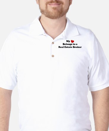 Heart Belongs: Real Estate Br Golf Shirt