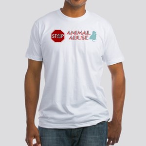 Stop Animal Abuse 2 Fitted T-Shirt
