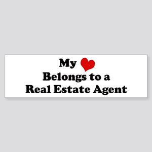 Heart Belongs: Real Estate Ag Bumper Sticker