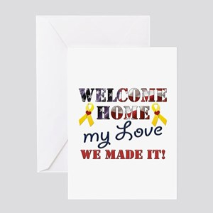 Welcome home husband greeting cards cafepress welcome home my love greeting card m4hsunfo