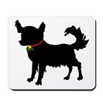 Christmas or Holiday Chihuahua Silhouette Mousepad