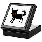 Christmas or Holiday Chihuahua Silhouette Keepsake