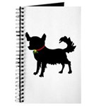 Christmas or Holiday Chihuahua Silhouette Journal