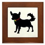 Christmas or Holiday Chihuahua Silhouette Framed T