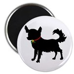Christmas or Holiday Chihuahua Silhouette Magnet