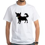 Christmas or Holiday Chihuahua Silhouette White T-