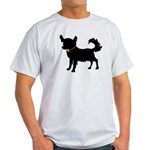 Christmas or Holiday Chihuahua Silhouette Light T-