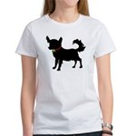 Christmas or Holiday Chihuahua Silhouette Women's