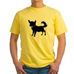 Christmas or Holiday Chihuahua Silhouette Yellow T