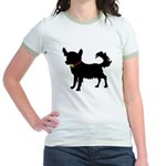 Christmas or Holiday Chihuahua Silhouette Jr. Ring