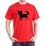 Christmas or Holiday Chihuahua Silhouette Dark T-S