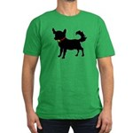 Christmas or Holiday Chihuahua Silhouette Men's Fi
