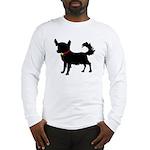 Christmas or Holiday Chihuahua Silhouette Long Sle