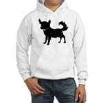Christmas or Holiday Chihuahua Silhouette Hooded S