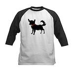 Christmas or Holiday Chihuahua Silhouette Kids Bas