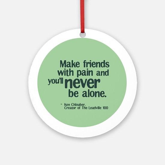 Make Friends Ornament (Round)