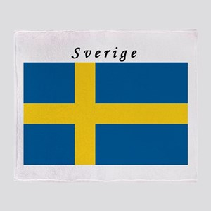Swedish Flag Throw Blanket