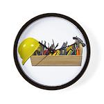 Hardhat Long Wooden Toolbox Wall Clock