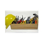 Hardhat Long Wooden Toolbox Rectangle Magnet (100