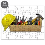 Hardhat Long Wooden Toolbox Puzzle