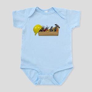 Hardhat Long Wooden Toolbox Infant Bodysuit