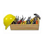 Hardhat Long Wooden Toolbox 38.5 x 24.5 Wall Peel